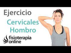 Ejercicio para relajar cervicales y hombros. Isométricos de cuello. - YouTube