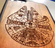 Star Wars Wood Phone Case - Millennium Falcon - Laser Engraved Personalised Gift - UK MADE - iPhone 4 4s 5 5s 6 plus Samsung s5 by Case4YouBB6 on Etsy https://www.etsy.com/listing/211490238/star-wars-wood-phone-case-millennium