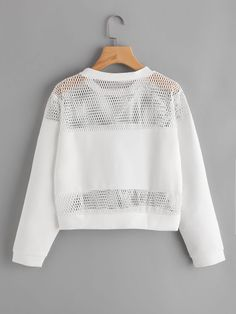 Discover thousands of images about Hollow Fishnet Insert Letter Printed Sweatshirt Teen Fashion Outfits, Cute Fashion, Trendy Outfits, Fall Outfits, Girl Fashion, Summer Outfits, Mode Kpop, Vetement Fashion, Crop Top Outfits