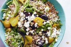 Goat Cheese, Roasted Beet and Farro Salad | What's Gaby Cooking |