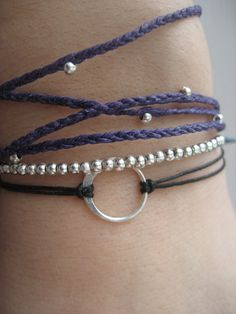 Sterling Silver Good Karma Bracelet 14 Colors by HauteHomemades, $13.50