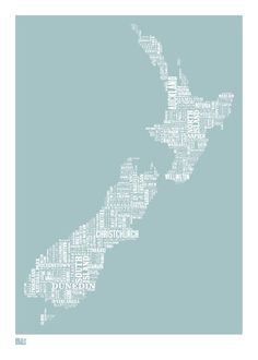 Bold & Noble New Zealand print. Homewares, home decor, prints and kitchenware online from the Perch Home online store in New Zealand Map Of New Zealand, New Zealand Houses, Honeymoon In New Zealand, Zealand Tattoo, Long White Cloud, Rockett St George, Nz Art, All Things New, Lovely Things