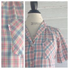Vintage 1980s PLAID LEVI's Shirt by runaroundsuevintage on Etsy