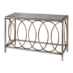 RINGS CONSOLE TABLE WITH MIRRORED TOP - Accent Furniture