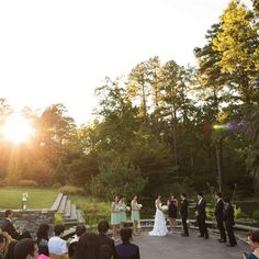 Duke Gardens Wedding in Durham, NC photo by @katiedunn #outdoorwedding #durhamwedding #dukegardens #fallwedding #outdoorceremony #ncwedding #ncweddingplanner
