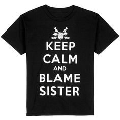 "Urban Pipeline ""Keep Calm and Blame Sister"" Tee Boys 8-20 ❤ liked on Polyvore featuring tween boy"
