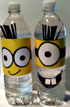 Fun and easy way to reuse water bottles.