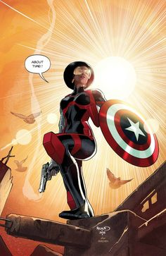 """marvel-feed: """" 'CAPTAIN AMERICA: SAM WILSON' ISSUE #16 PREVIEW SHOWS MISTY KNIGHT WIELDING THE SHIELD! """""""