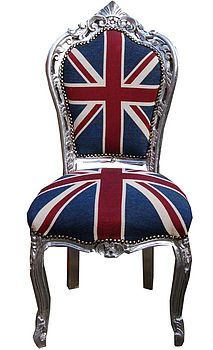 Vintage Style Union Jack French Dining Chair  by Made With Love Designs Ltd