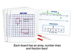 Building Math Skills Write & Wipe Boards - Gr. 3-5 at Lakeshore Learning