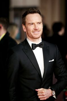 """awardseason: """" Michael Fassbender attends the EE British Academy Film Awards at the Royal Opera House on February 14, 2016 in London, England. """""""