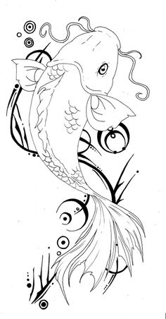 koi tattoo design - Tattoos And Body Art Koi Tattoo Design, Tattoo Designs, Design Tattoos, Koi Fish Drawing, Fish Drawings, Art Drawings, Koi Art, Fish Art, Pez Koi Tattoo