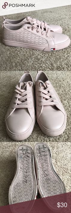 Tommy Hilfiger Lightly Worn TH shoes (Pink) Tommy Hilfiger Shoes Sneakers