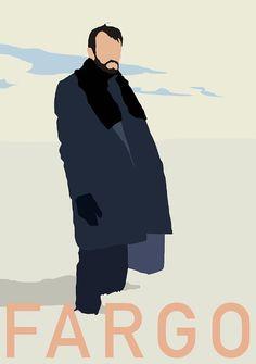 Fargo  Lorne Malvo minimalist poster print  Movie / by BokaPrint, £7.50