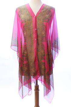 Lightweight Chiffon Poncho - doubles as scarf! @ www.sunben.com #wholesale #fashionaccessories