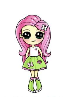 Cute Drawings Of People, Easy Doodles Drawings, Cute Food Drawings, Cute Disney Drawings, Cute Cartoon Drawings, Griffonnages Kawaii, Cute Kawaii Girl, Kawaii Disney, Cute Cartoon Girl