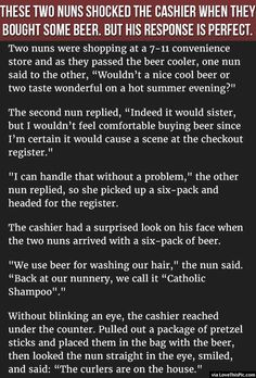 These Two Nuns Shocked The Cashier When They Bought Some Beer But His Response Is Perfect