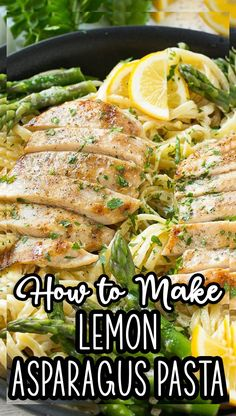 This recipe for lemon asparagus pasta combines tender asparagus and grilled chicken with pasta in a lemon cream sauce. Healthy Italian Recipes, Healthy Pastas, Healthy Dinner Recipes, Vegetarian Recipes, Cooking Recipes, Quick Pasta Recipes, Pasta Dinner Recipes, Lemon Asparagus, Asparagus Pasta