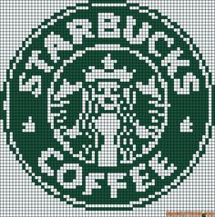Cross stitch/hama/perler - Starbucks coffee old logo