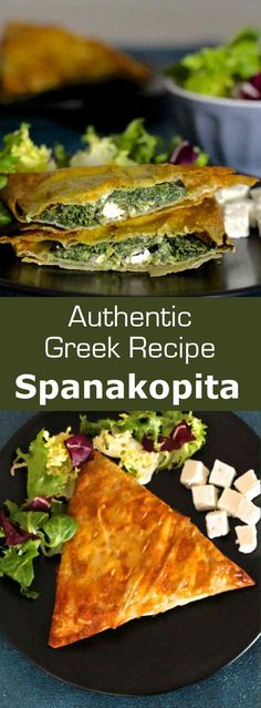 Greece: Spanakopita - Lussi Theodoridou - Greece: Spanakopita Spanakopita is a famous traditional Greek recipe which consists of a phyllo dough based pie stuffed with spinach and herbs. Diet Recipes, Vegetarian Recipes, Cooking Recipes, Healthy Recipes, Recipes Dinner, Pasta Recipes, Crockpot Recipes, Soup Recipes, Breakfast Recipes