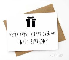 Handmade Funny Birthday Card. Happy 60th Birthday от SpicyCards