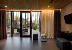 The guest housesare the variation of thehotel rooms in spa-complex Relax Park Verholy located in a pine forest in the Poltava region. Houses are built fromlightweight metal frame structures made by BF Zavodcompany(Kiev) in accordance withthe designers