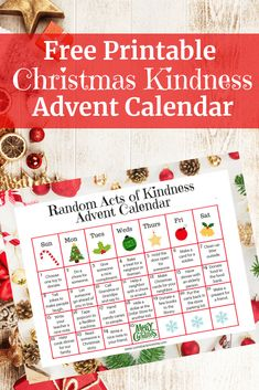 Looking for a new Christmas tradition to implement this year with your family? How about a random acts of Christmas kindness advent calendar! This free printable will help you and your family give back throughout the holiday season. #Christmas #holidays #printable #calendar #kindness