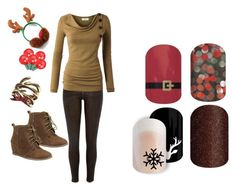 """Guess the Christmas Song - Jamberry Nails Game"" by kspantonjamon on Polyvore featuring River Island, Nature Breeze,"