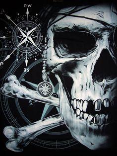 Ye best keep yer compass on true North, or ye be visitin' Davy Jones Locker...! Arrgggh! #pirates