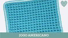 Criações em Crochê: Jogo Americano - Ponto Waffle | Luciana Ponzo