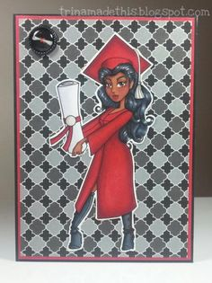 Graduation in Red by TrinaMakesStuff - Cards and Paper Crafts at Splitcoaststampers