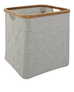 BARNABE Wäschekörbe und -ständer Grau Stoff Holz