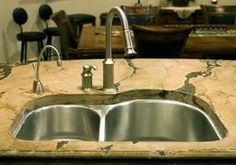 Custom Sink by The Concrete Artisans Serving DC, MD & VA Contact us today for a free estimate! 703-989-7065 www.theconcreteartisansva.com