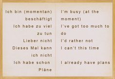 Different ways to say YES and NO in German - learn German,german,communication,vocabulary Study German, Learn German, Learn English, German Grammar, German Words, German Language Learning, Language Study, Deutsch Language, Idioms