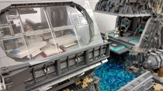 My lego star wars hydro base on combos with working waterfall, check out my page to see the working waterfall in action! Cool Lego, Awesome Lego, Star Wars Models, Lego Modular, Lego House, Lego Building, Lego Creations, Lego Star Wars, Legos