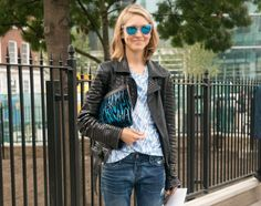 Want to look your stylish best in jeans? Take a look at how 8 of today's top female fashion magazine editors are dressing in jeans, including tips for each look on how you can steal their style.