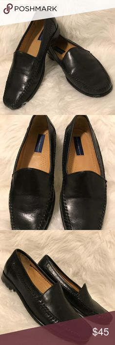 GIORGIO BRUTINI Men's Black Leather Stitch Loafers Sleek and stylish black leather loafers by Giorgio Brutini. Tailored and stitched to perfection. Nice evening look ! Very gently worn. In excellent condition. Giorgio Brutini Shoes Loafers & Slip-Ons