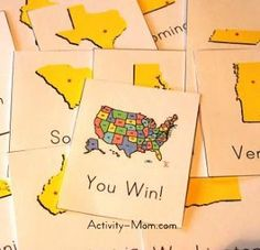 The Activity Mom: States Games and Activities (printable) Geography Activities, Geography For Kids, Teaching Geography, Teaching History, Geography Lessons, Teaching Time, History Education, History Class, Kids Education
