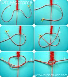 DIY: Makramee Armband mit Totenkopf – - diy jewelry To Sell Ideen Macrame Bracelet Diy, Bracelet Crafts, Macrame Jewelry, Jewelry Crafts, Skull Bracelet, Armband Tutorial, Armband Diy, Bracelet Tutorial, Yarn Bracelets