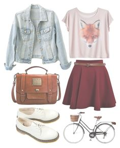 """""""Untitled"""" by hanaglatison ❤ liked on Polyvore featuring Dr. Martens and Jack Wills"""