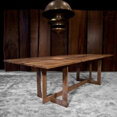 conceptual idea for dining table top - slabs of walnut. This Hudson table. High Line Table is 108x40