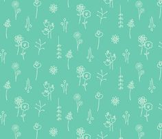 Flower Show (teal) fabric by leanne on Spoonflower - custom fabric