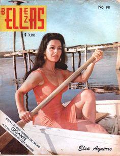 La diva del cine mexicano Elsa Aguirre en portada de revista de los 70s.