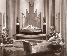 Cedric Gibbons set from The Kiss (1929)