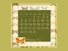 february desktop wallpaper . freebies