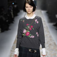 Handmade Knitted Roses - Blugirl Fall Winter 2013/2014 Fashion Show Collection #mfw