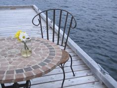Signing of the registry down on the dock Diy Wedding, Patio, Rustic, Amazing, Outdoor Decor, Beautiful, Home Decor, Country Primitive, Decoration Home