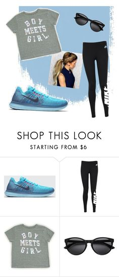 """""""Sporty Chic"""" by josselynv ❤ liked on Polyvore featuring NIKE"""