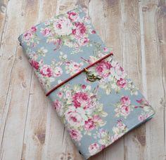 IN STOCK - Fabric Cover Fauxdori, Travelers Notebook, Midori insert, Fabric Midori book, Fairy and flowers, Field Note, Regular size