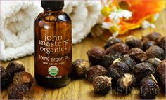 John Masters Organic Argan Oil - Best used at night and only use a little bit at a time - Don't rub it in, just swirl in an upward motion and it seeps in quickly